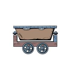 metal mining trolley vector image