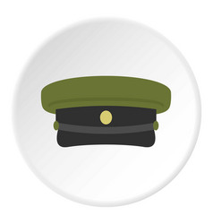 Military hat icon circle vector