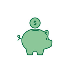 money line and fill style vector image
