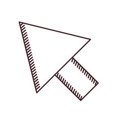 Monochrome silhouette arrowhead icon vector