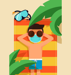 New normal lifestyle and safe travel concept vector