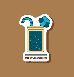 Paper sticker on stylish background smoothies vector