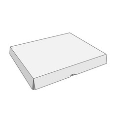 Paper white box template vector
