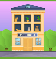pets hotel concept banner cartoon style vector image