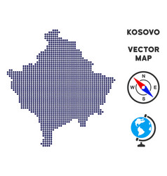Pixelated kosovo map vector