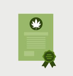 Prescription for medical cannabis or marijuana vector