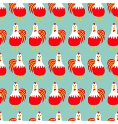 Rooster Cock bird Seamless Pattern 2017 Happy New vector image