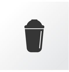 shaker icon symbol premium quality isolated drink vector image
