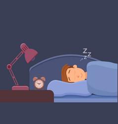 Sleepless man face cartoon character suffers from vector