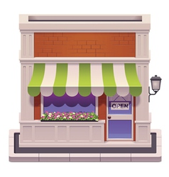 small shop icon vector image