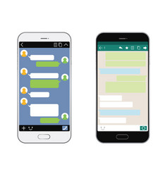 smartphones with sns interfaces vector image