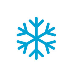 snowflake simple blue color icon vector image