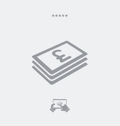 sterling banknote flat icon vector image