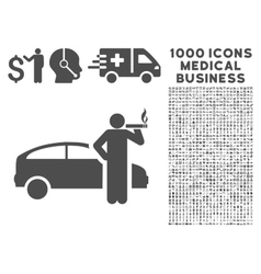 Taxi Driver Icon with 1000 Medical Business vector