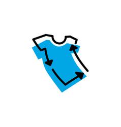 Tee recycle logo icon vector