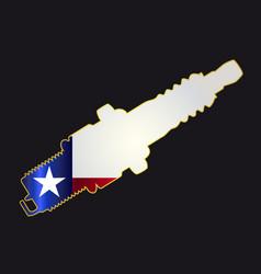 Texas spark plug silhouettes vector