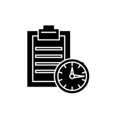 time limit black icon sign on isolated vector image