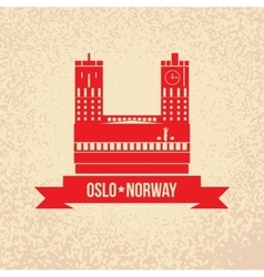 town hall the symbol oslo norway vector image