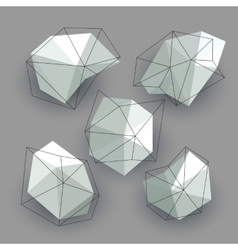 Triangle low poly circles set Abstract business vector