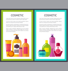 two cosmetic banners colorful vector image