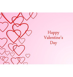 Valentine beutiful background with hearts vector image