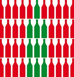 wine bottles vector image