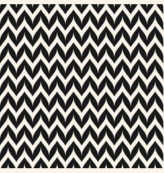 Zigzag chevron seamless pattern curved wavy line vector