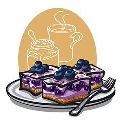 Blueberry cakes vector image vector image