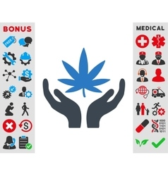 Cannabis Care Icon vector image vector image