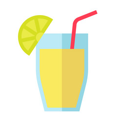 cocktail flat icon food and drink vector image vector image