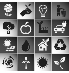 Ecology Icons Set vector image vector image