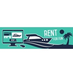 Rental boat banners vector image