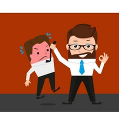 Businessman asks manager about delaying deadline vector image vector image