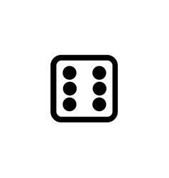 dice line icon gambling outline logo vector image