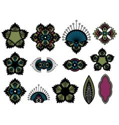 Paisley flower design vector