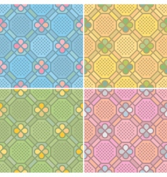 seamless patterns vector image vector image