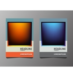 Set brochures template vector image