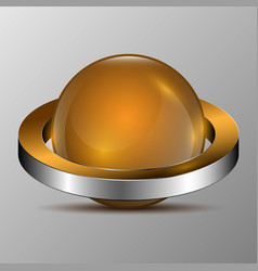 the 3d sphere with rings vector image