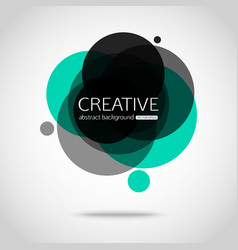 Abstract colorful background Circle design vector image vector image