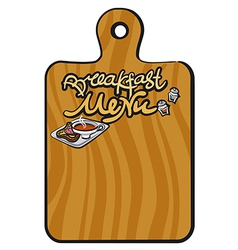 breakfast menu background vector image vector image