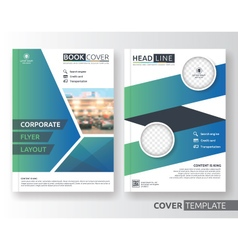Corporate business flyer layout design vector image vector image