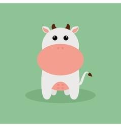 Cute Cartoon Cow vector image
