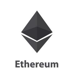 ethereum black symbol chrystal vector image vector image