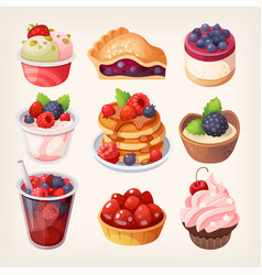 forest fruit desserts vector image vector image