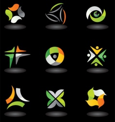 glossy icons and logos vector image vector image