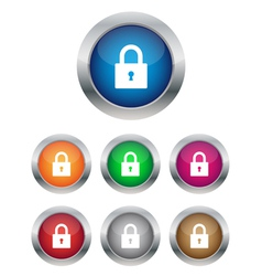 Lock buttons vector image vector image