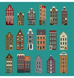 Typical european houses vector