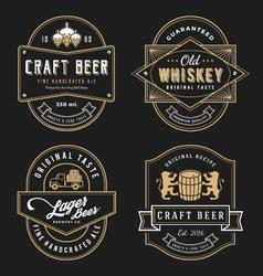 Vintage frame design for labels banner vector image vector image