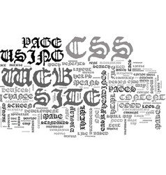 why css is good for your web site text word cloud vector image vector image