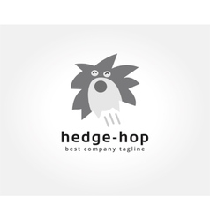 Abstract hedgehog logo icon concept Logotype vector image